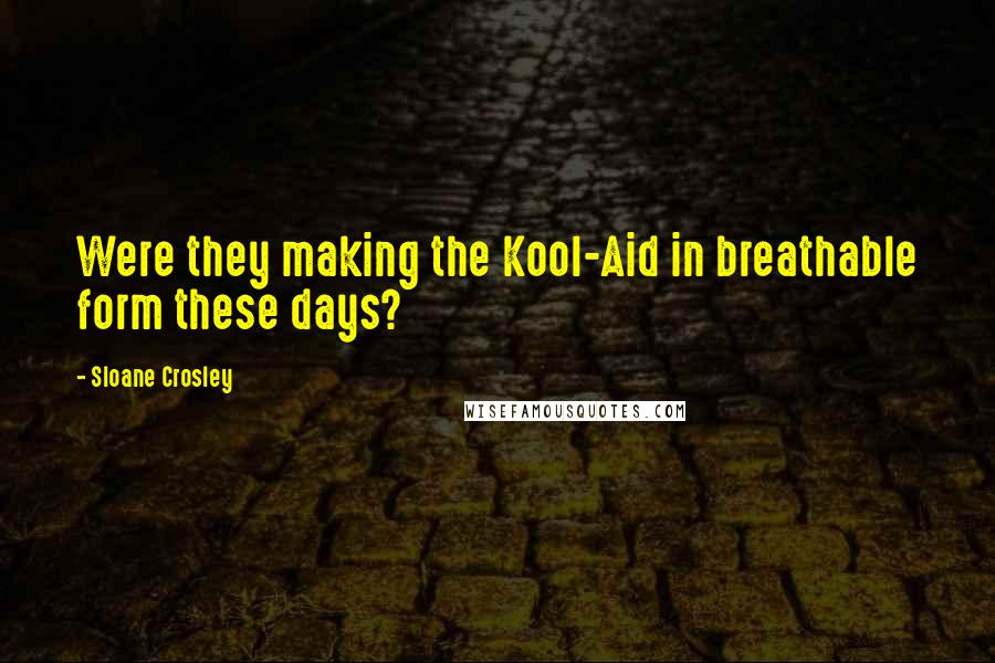 Sloane Crosley quotes: Were they making the Kool-Aid in breathable form these days?