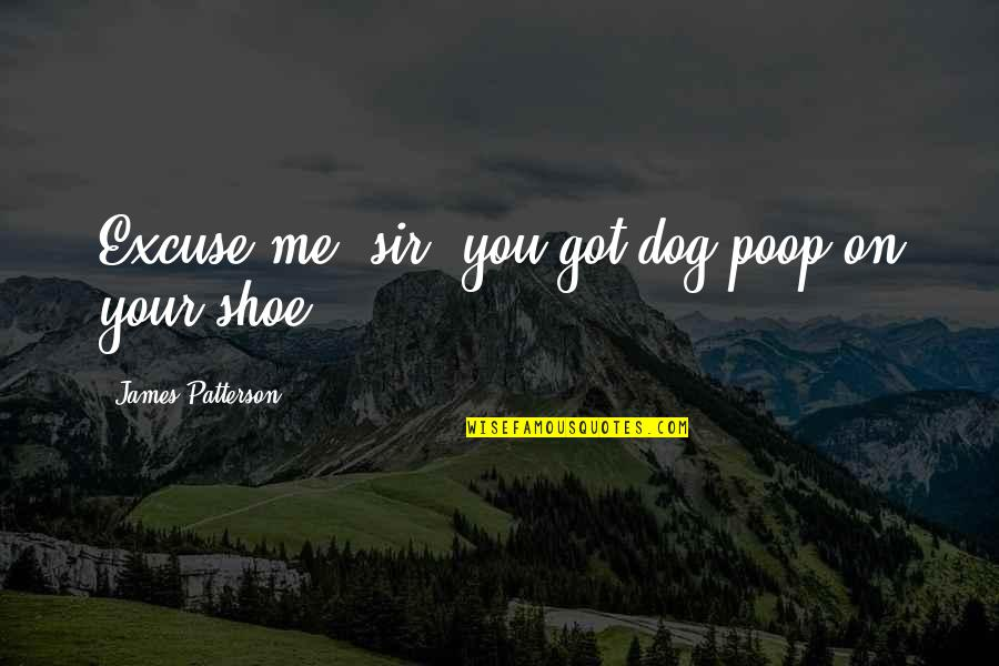 Slobbery Quotes By James Patterson: Excuse me, sir, you got dog poop on