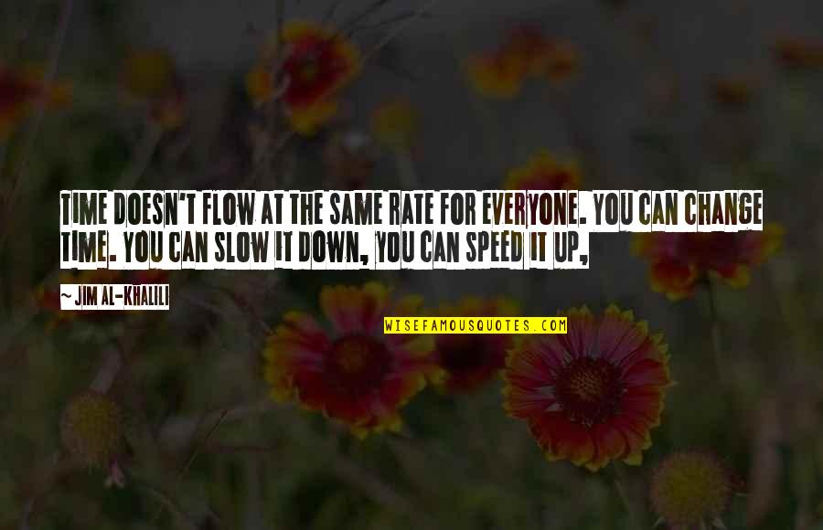Slow Down To Speed Up Quotes By Jim Al-Khalili: Time doesn't flow at the same rate for