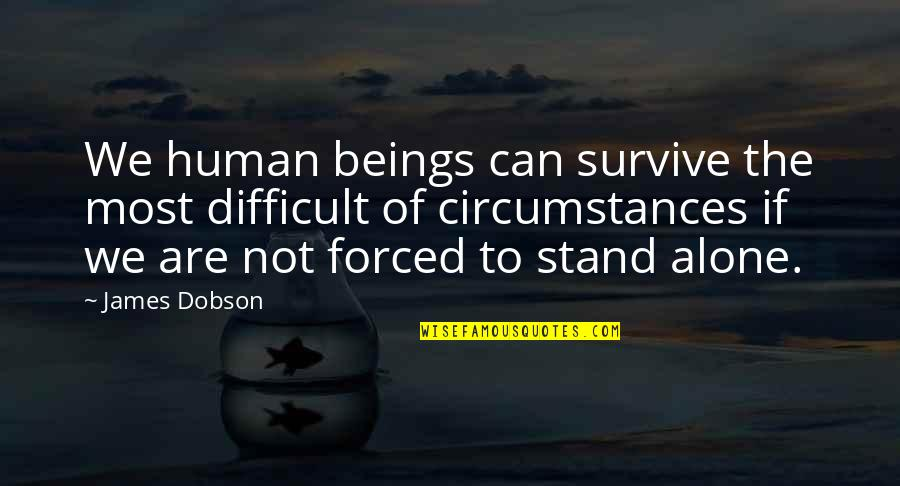 Slow Replies Make Me Think Quotes By James Dobson: We human beings can survive the most difficult