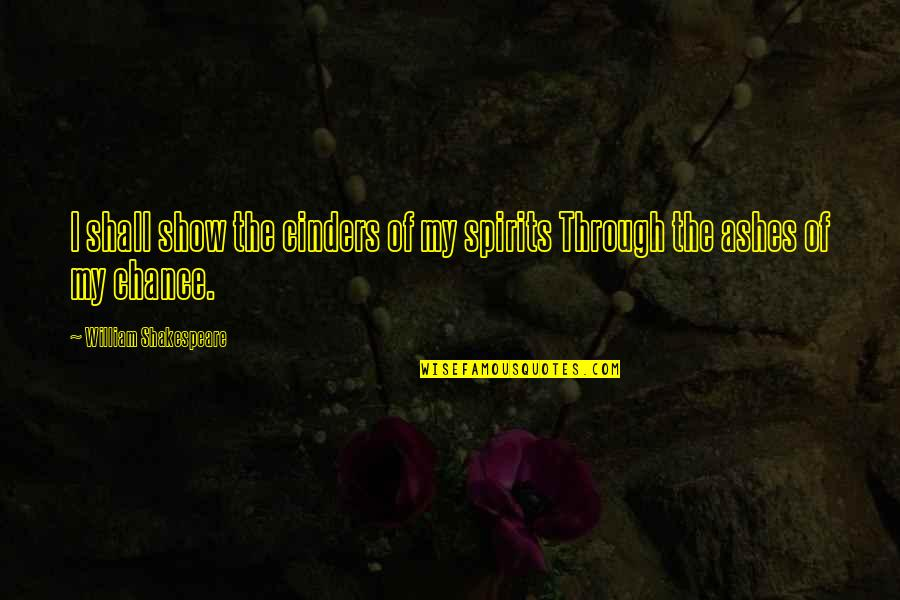 Smackingly Quotes By William Shakespeare: I shall show the cinders of my spirits