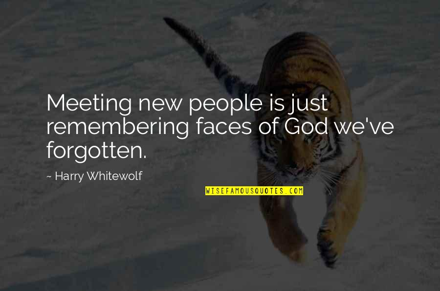 Small Group Instruction Quotes By Harry Whitewolf: Meeting new people is just remembering faces of