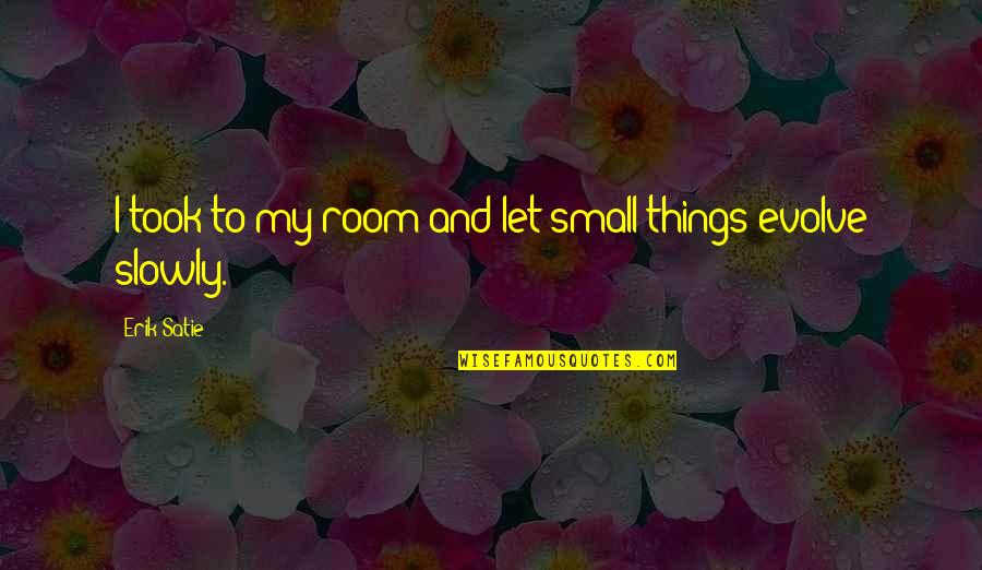 Small Rooms Quotes By Erik Satie: I took to my room and let small
