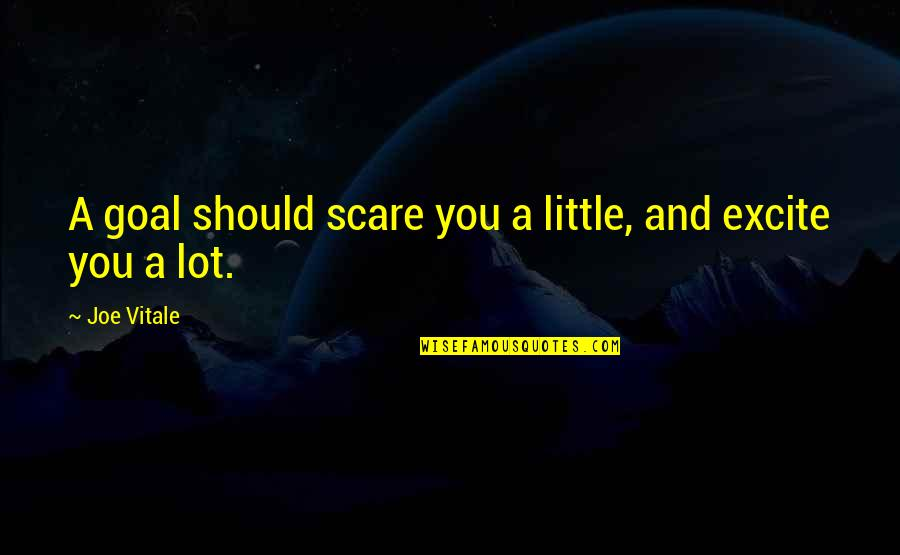 Small Rooms Quotes By Joe Vitale: A goal should scare you a little, and