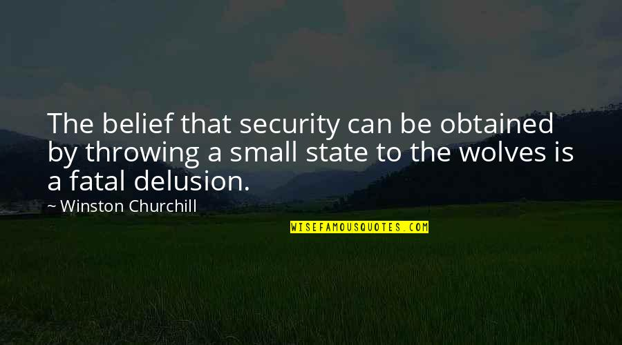 Small States Quotes By Winston Churchill: The belief that security can be obtained by