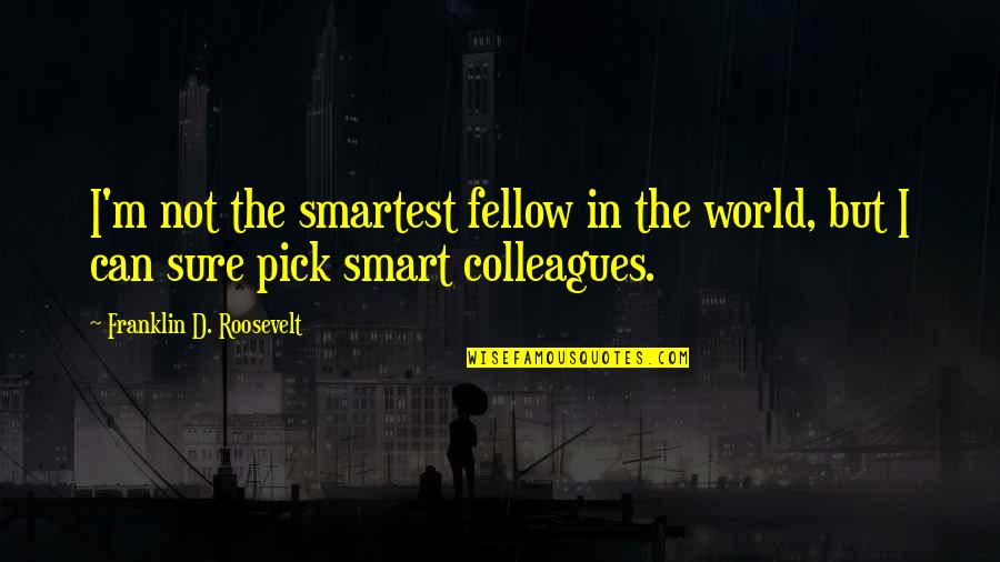 Smart'n'civ'lize Quotes By Franklin D. Roosevelt: I'm not the smartest fellow in the world,