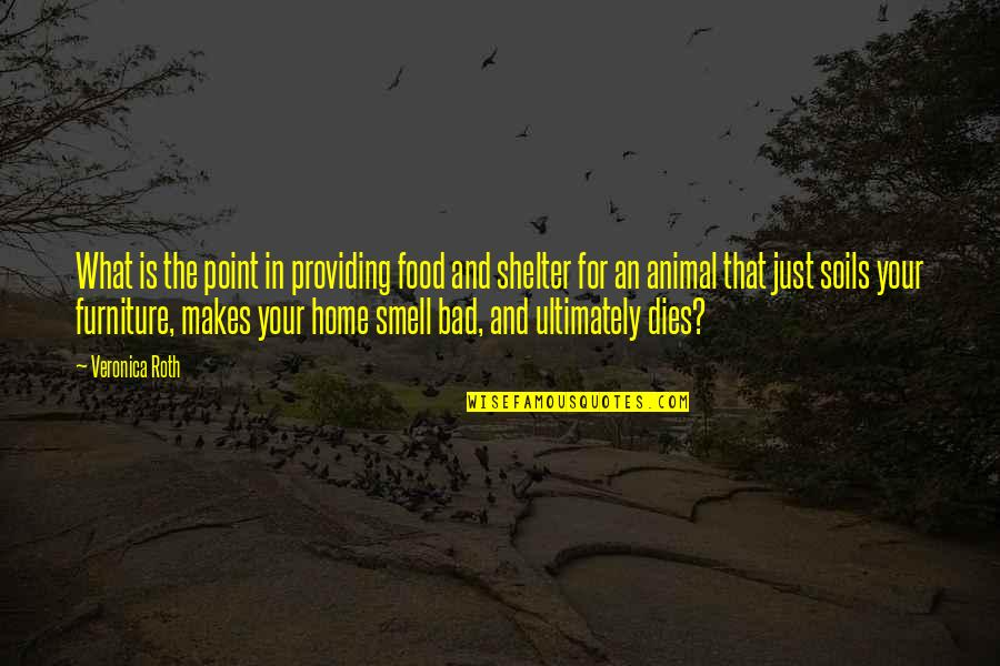 Smell Of Home Quotes By Veronica Roth: What is the point in providing food and