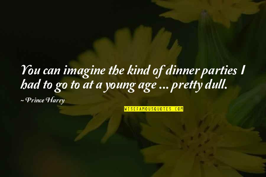Smile To Hide The Pain Quotes By Prince Harry: You can imagine the kind of dinner parties