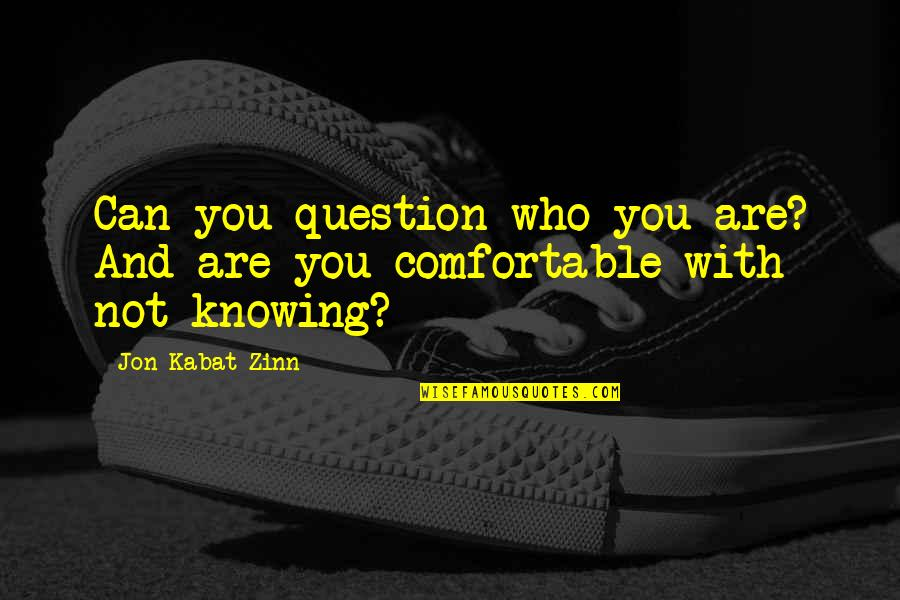 Smokes And Mirrors Quotes By Jon Kabat-Zinn: Can you question who you are? And are