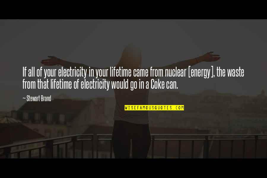 Snap Printing Quotes By Stewart Brand: If all of your electricity in your lifetime