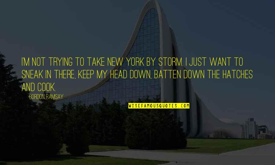 Sneak Out Quotes By Gordon Ramsay: I'm not trying to take New York by