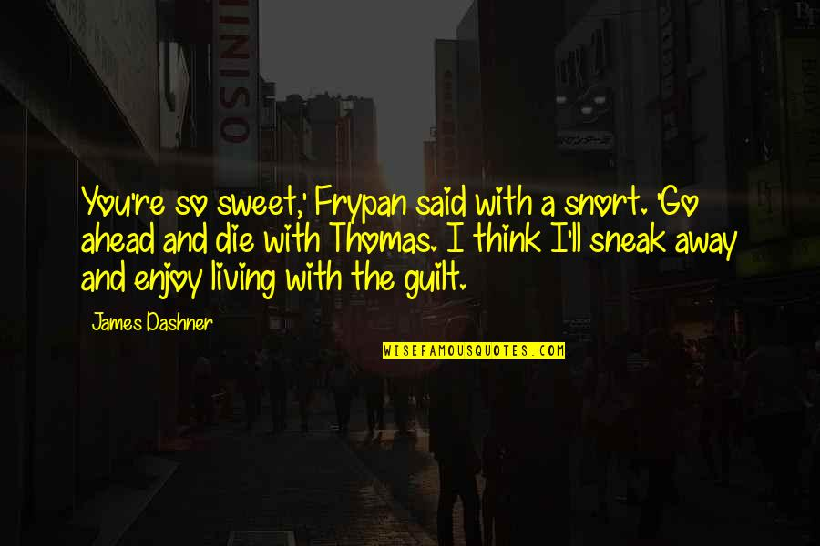 Sneak Out Quotes By James Dashner: You're so sweet,' Frypan said with a snort.