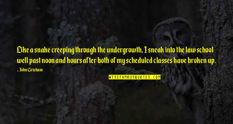Sneak Out Quotes By John Grisham: Like a snake creeping through the undergrowth, I