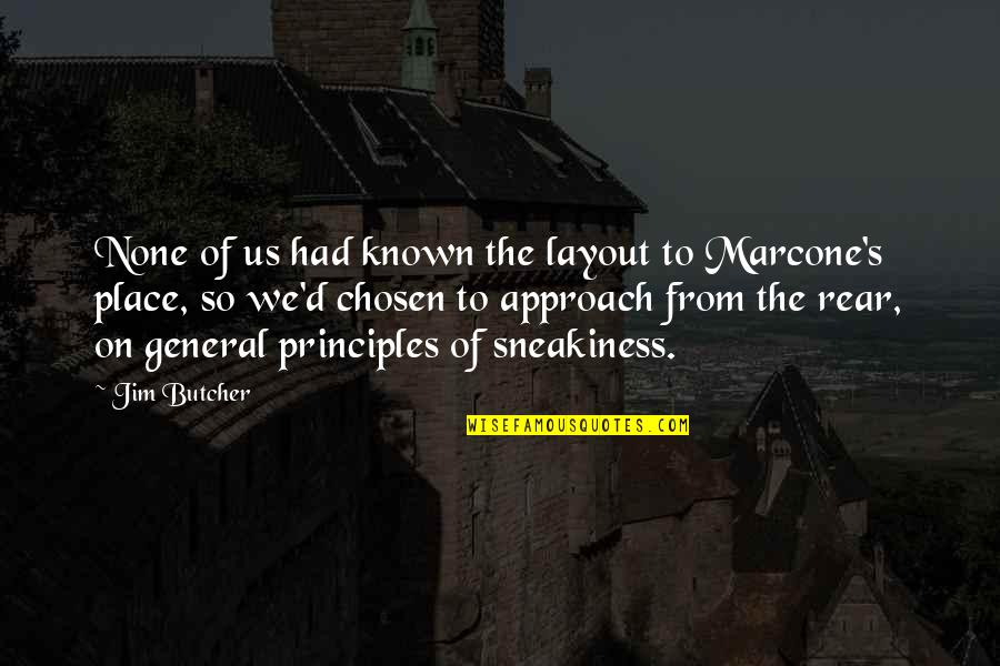 Sneakiness Quotes By Jim Butcher: None of us had known the layout to