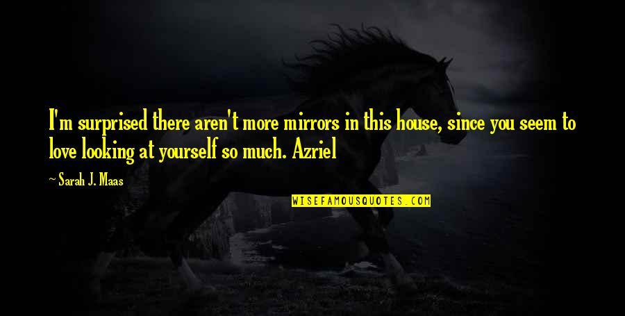 So Much Love Quotes By Sarah J. Maas: I'm surprised there aren't more mirrors in this