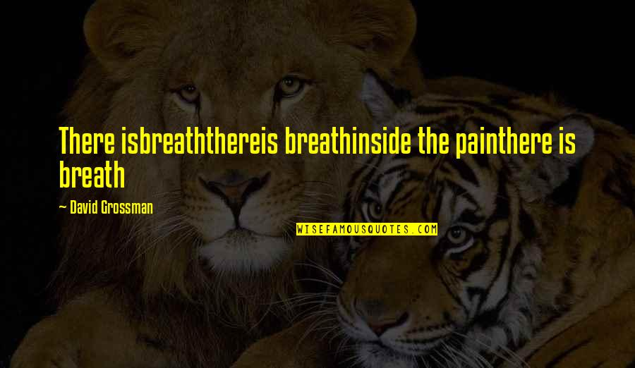 So Much Pain Inside Quotes By David Grossman: There isbreaththereis breathinside the painthere is breath