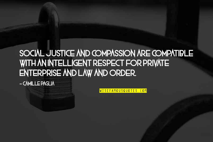 Social Order Quotes By Camille Paglia: Social justice and compassion are compatible with an