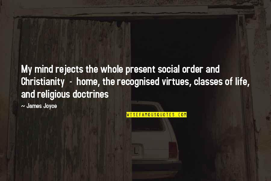 Social Order Quotes By James Joyce: My mind rejects the whole present social order