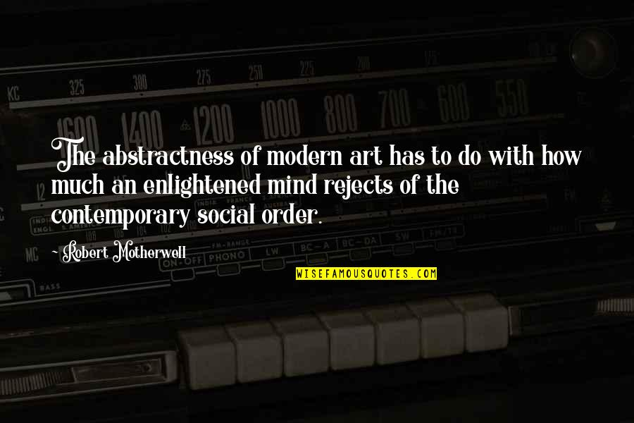 Social Order Quotes By Robert Motherwell: The abstractness of modern art has to do