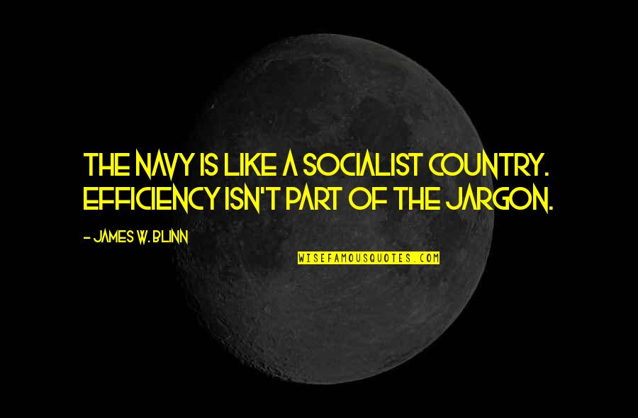 Socialist Quotes By James W. Blinn: The navy is like a socialist country. Efficiency
