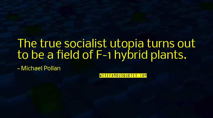 Socialist Quotes By Michael Pollan: The true socialist utopia turns out to be