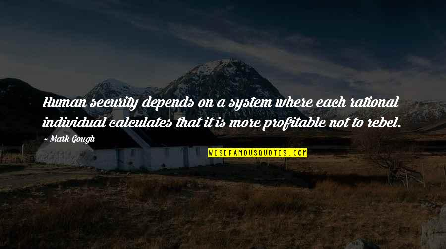 Society Individual Quotes By Mark Gough: Human security depends on a system where each