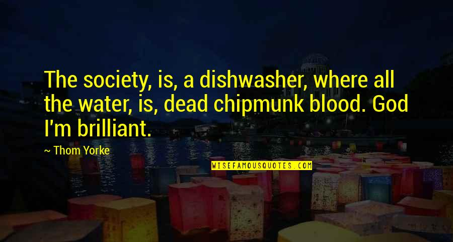 Society Is Dead Quotes By Thom Yorke: The society, is, a dishwasher, where all the