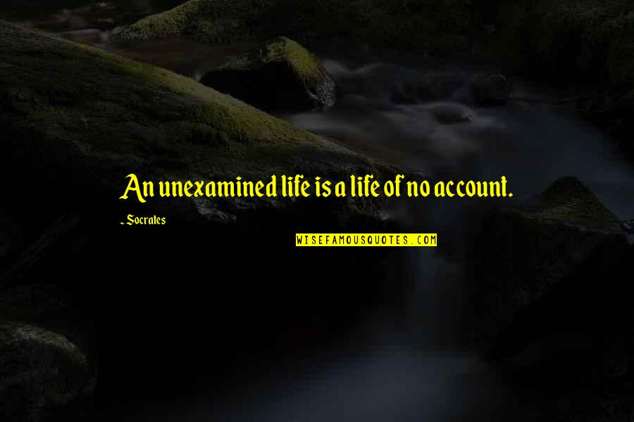 Socrates Unexamined Life Quotes By Socrates: An unexamined life is a life of no
