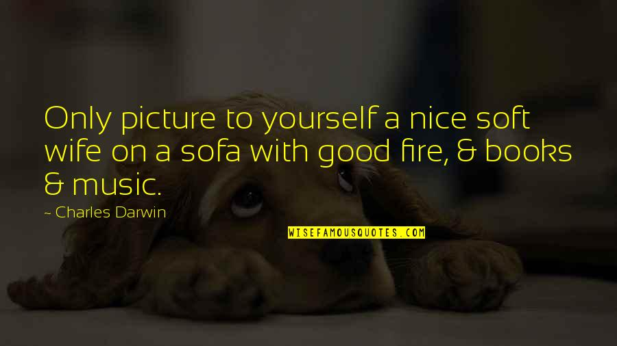 Sofa Quotes By Charles Darwin: Only picture to yourself a nice soft wife