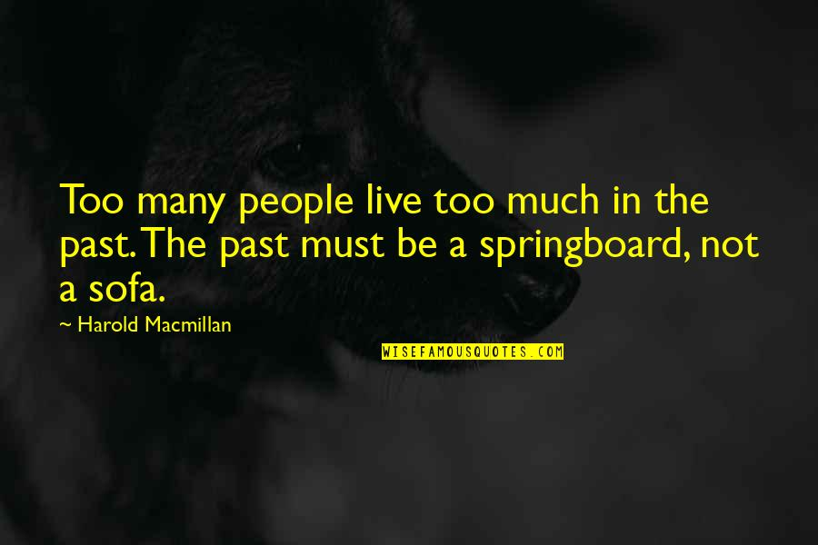 Sofa Quotes By Harold Macmillan: Too many people live too much in the