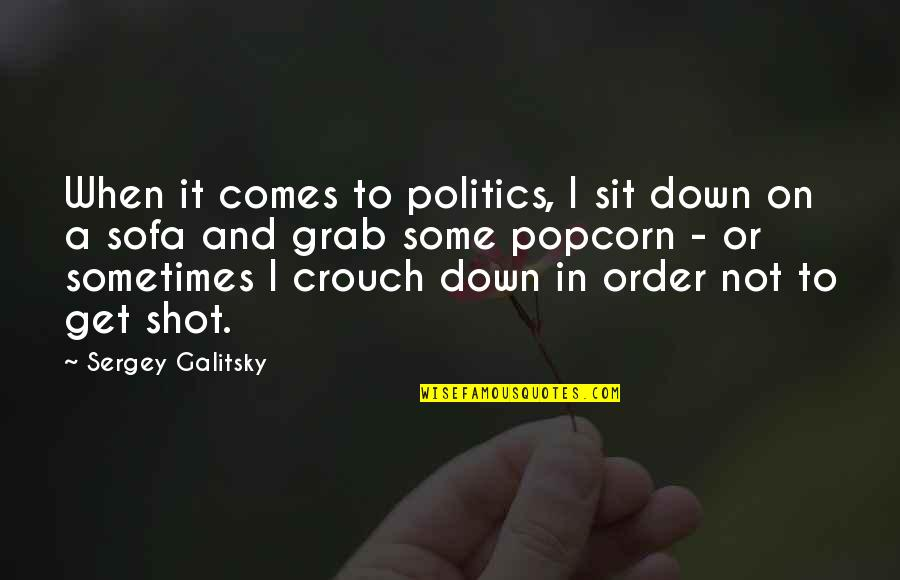 Sofa Quotes By Sergey Galitsky: When it comes to politics, I sit down