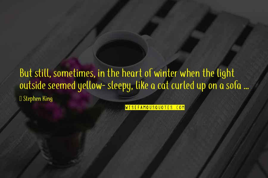Sofa Quotes By Stephen King: But still, sometimes, in the heart of winter