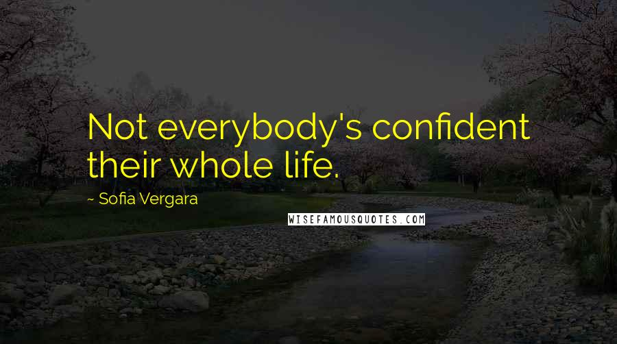 Sofia Vergara quotes: Not everybody's confident their whole life.