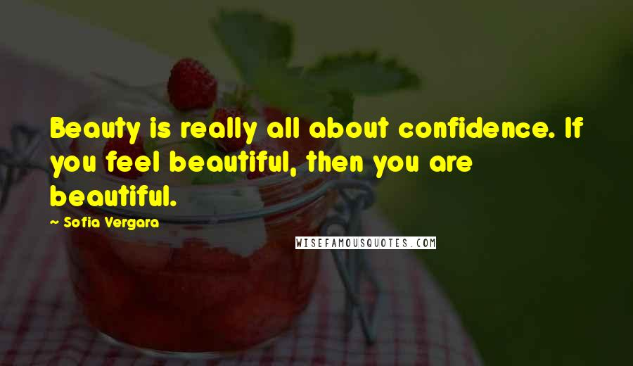 Sofia Vergara quotes: Beauty is really all about confidence. If you feel beautiful, then you are beautiful.