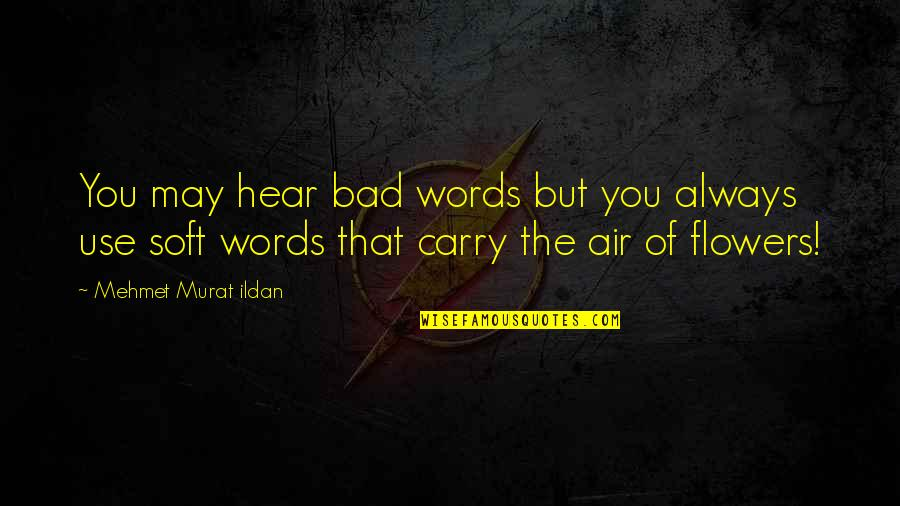 Soft Words Quotes By Mehmet Murat Ildan: You may hear bad words but you always