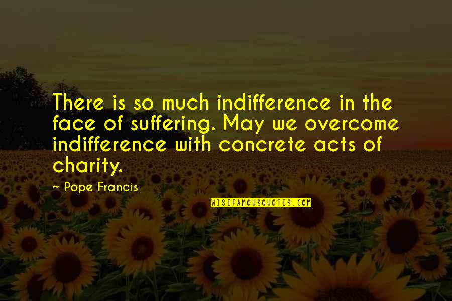 Solitude In 100 Years Of Solitude Quotes By Pope Francis: There is so much indifference in the face