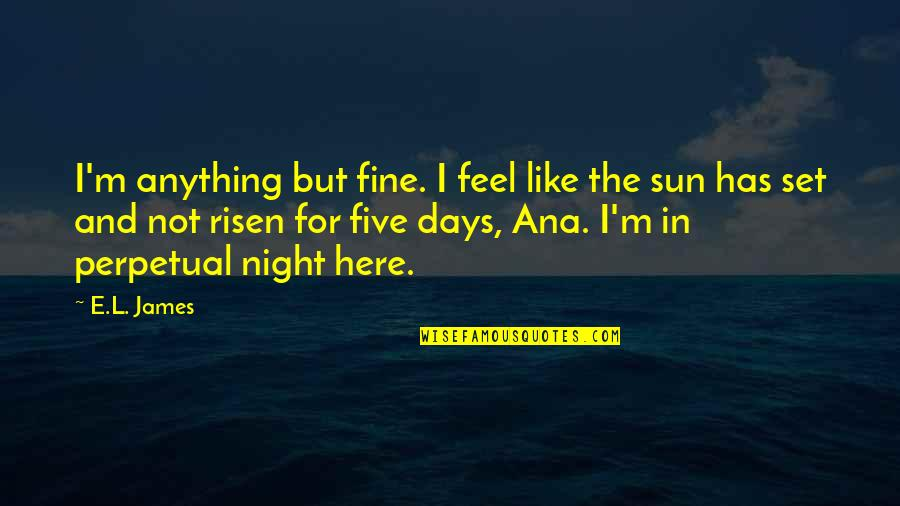 Some Days I Feel Like Quotes By E.L. James: I'm anything but fine. I feel like the
