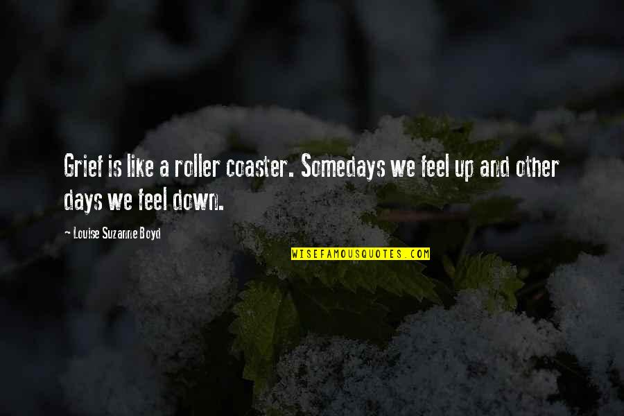 Some Days I Feel Like Quotes By Louise Suzanne Boyd: Grief is like a roller coaster. Somedays we