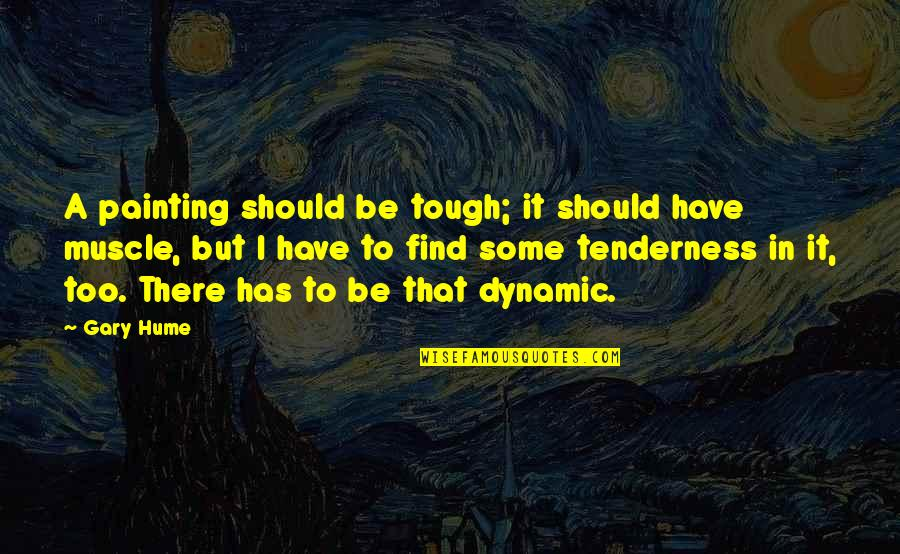 Some Dynamic Quotes By Gary Hume: A painting should be tough; it should have