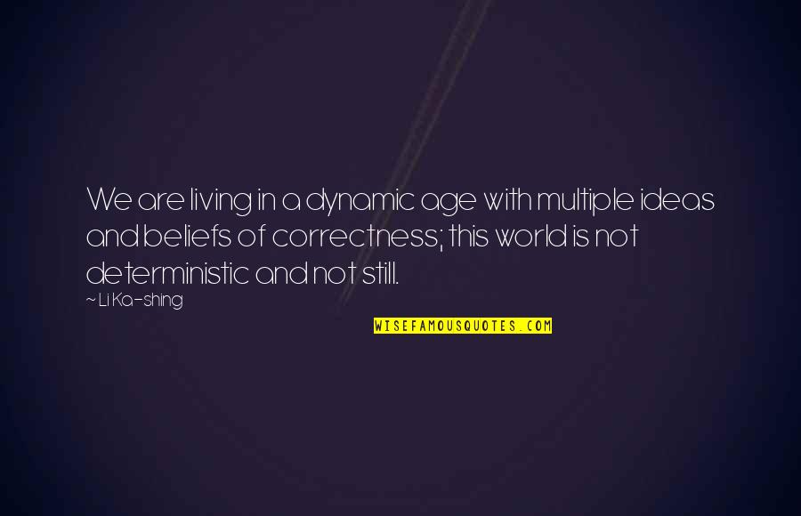Some Dynamic Quotes By Li Ka-shing: We are living in a dynamic age with
