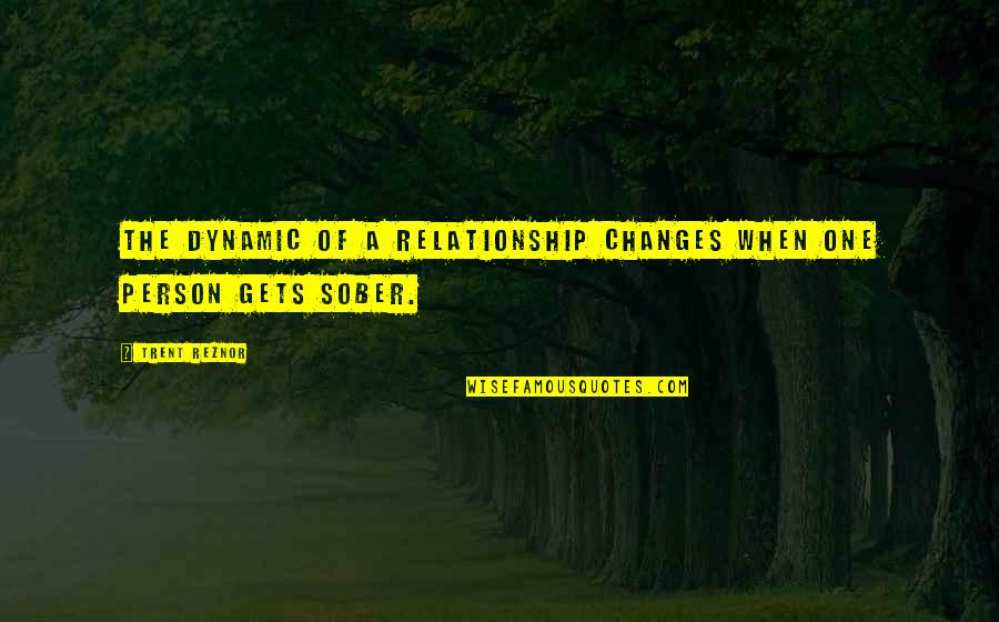 Some Dynamic Quotes By Trent Reznor: The dynamic of a relationship changes when one