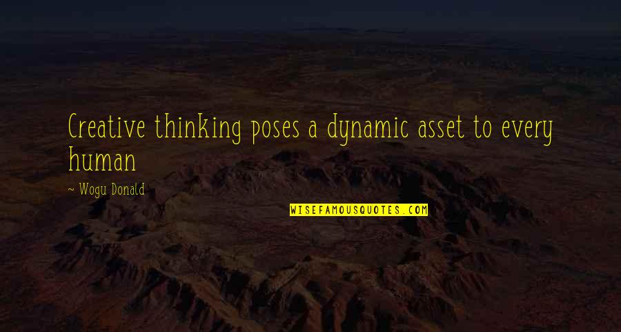Some Dynamic Quotes By Wogu Donald: Creative thinking poses a dynamic asset to every