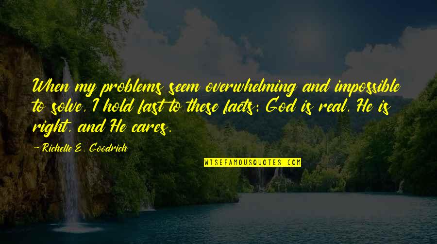 Some Real Facts Quotes By Richelle E. Goodrich: When my problems seem overwhelming and impossible to