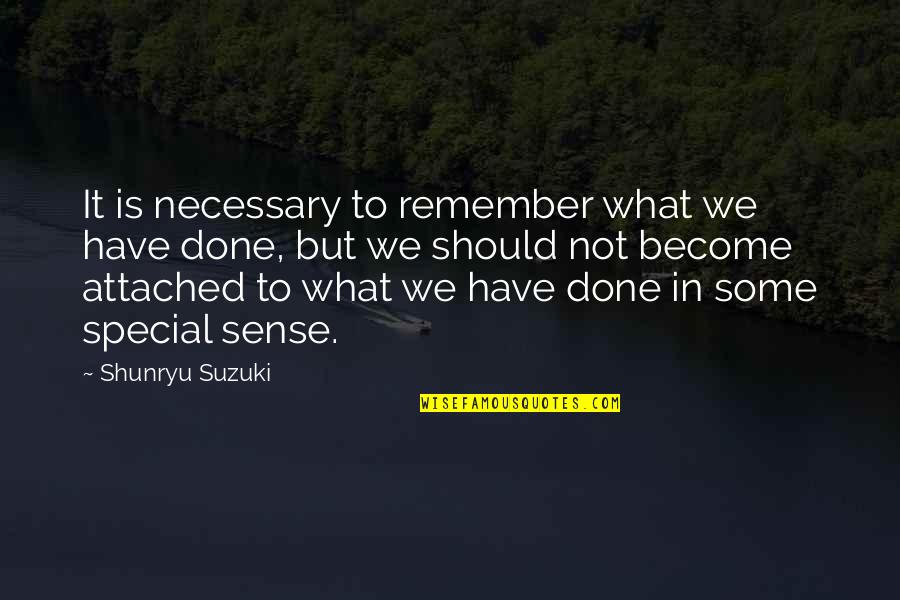 Some Special Quotes By Shunryu Suzuki: It is necessary to remember what we have