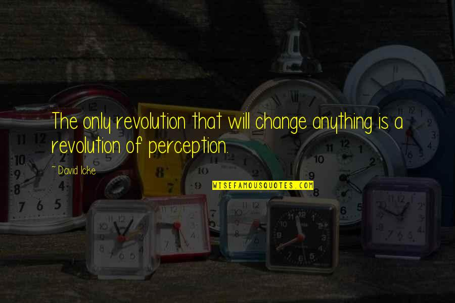 Someone Being Hurtful Quotes By David Icke: The only revolution that will change anything is