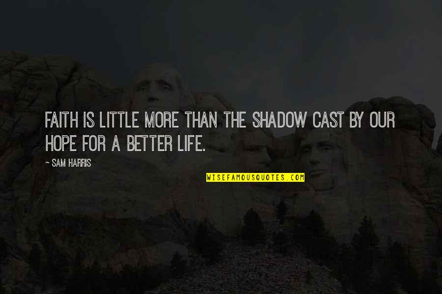 Someone Being Hurtful Quotes By Sam Harris: Faith is little more than the shadow cast
