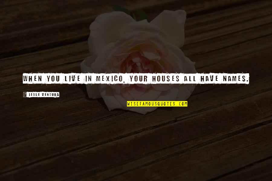 Someone Being Worse Off Quotes By Jesse Ventura: When you live in Mexico, your houses all