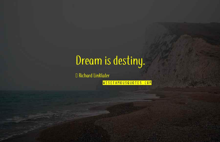 Someone Being Worse Off Quotes By Richard Linklater: Dream is destiny.