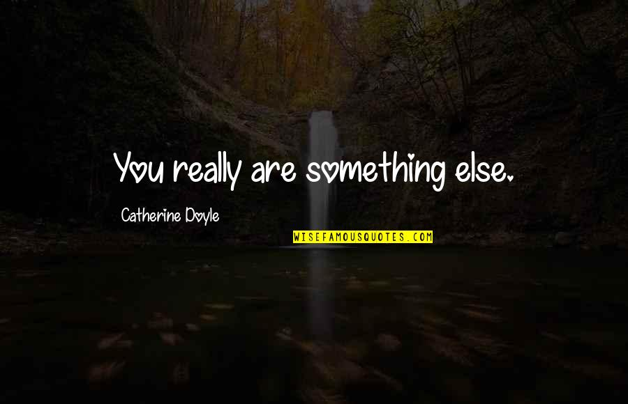 Someone Not Seeing Your Worth Quotes By Catherine Doyle: You really are something else.