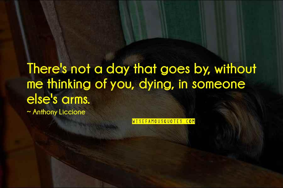 Someone That's Gone Quotes By Anthony Liccione: There's not a day that goes by, without